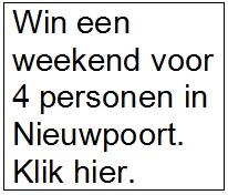 Win een weekend in Nieuwpoort